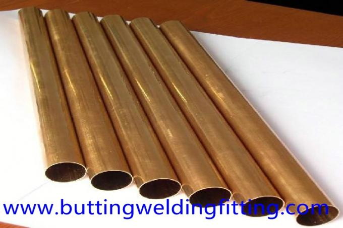 JIS GB UNS 70/30 Seamless Copper Nickel Pipe / Water Heater Tube