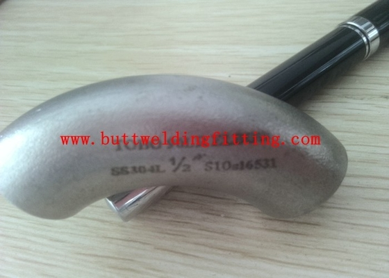 China 76mm Radius Stainless Steel Elbow Seamless 90 / 45 Degree In Silver Colour supplier