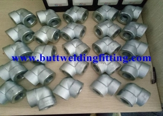 China ASTM A105 Galvanized Forged Steel Pipe Fittings 90 Degree 0.75 Inch Elbow supplier