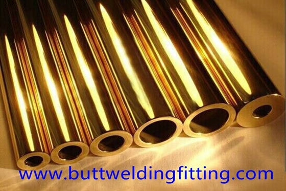 China Brass Pipe / Copper Nickel Tube OD 6 - 8mm For Military Industry supplier