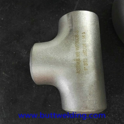 China Butt Weiding Fittngs 1'' STD N08020 ASME B16.9 Nickel Alloy Steel Equal Tee Pipe Fitting supplier