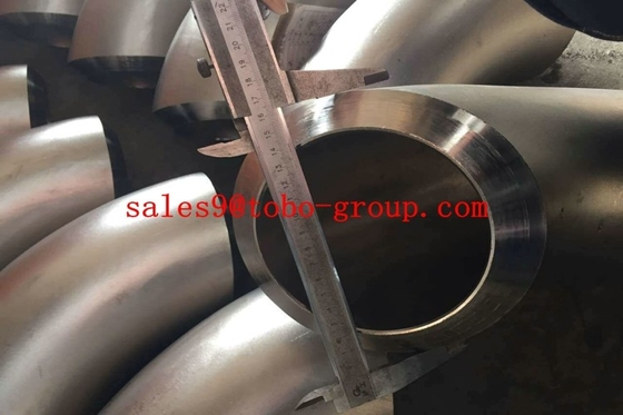 "China ASTM A815 1 1/2"" 45 Degree Duplex Stainless Steel Pipe , UNS S32760 LR Seamless Elbow supplier"