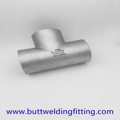 "China 6"" Sch10S ASTM A815 UNS S32750 Stainless Steel Tee ASME B16.9 supplier"