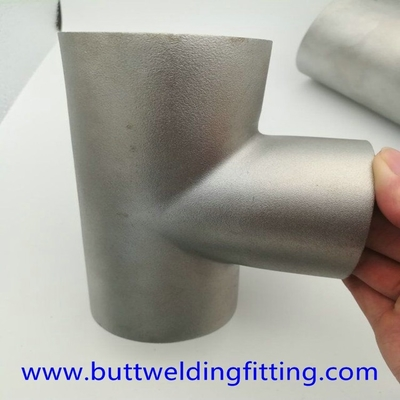 China Dn15-3000 Stainless Steel Tee , Astm A234 Gr Wpb Butt Weld Reducing Tee supplier