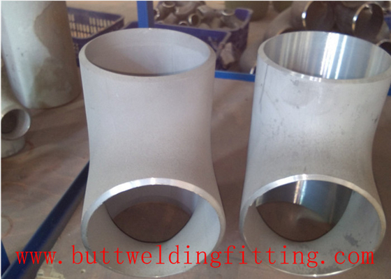 China Butt Weld Stainless Steel Reducing Tee Tube Fittings 304 Sch40 1 Inch Size supplier