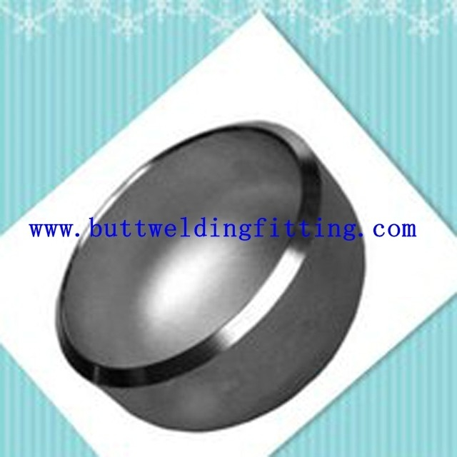 Polished large diameter stainless steel pipe end caps for