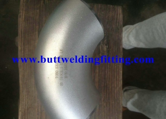China ASTM A815 UNS31803 GR2205 Duplex Stainless Steel 90 Degree Elbow Welded DN600 SCH40S factory