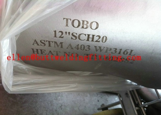China ASTM A403 Seamless Stainless Steel 90 Degree Elbow DN15 - DN1200 factory