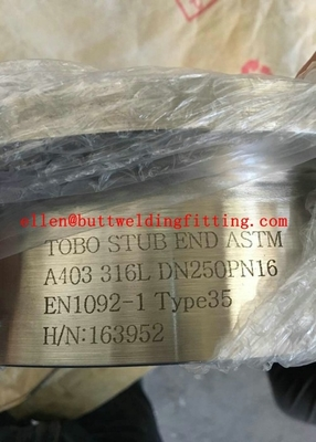 Welding Stainless Steel Stub End Pipe Fitting With ASTM A403 316L Standard