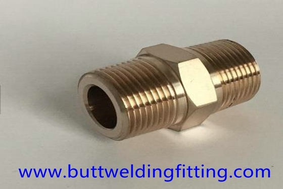Forged Pipe Fittings Copper Nickel 90/10 Pipe Nipple Male High Pressure 4''