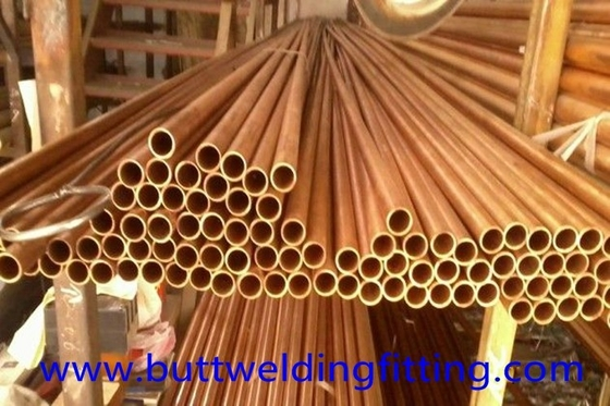 CuNi90/10 Copper Nickel Tube / Straight Copper pipe CuNi 90/10 6 - 12m Length