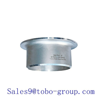8 inch UNS S32750 ASME duplex Stainless Steel Stub Ends for Metallurgy , ANSIB16.9 DN200
