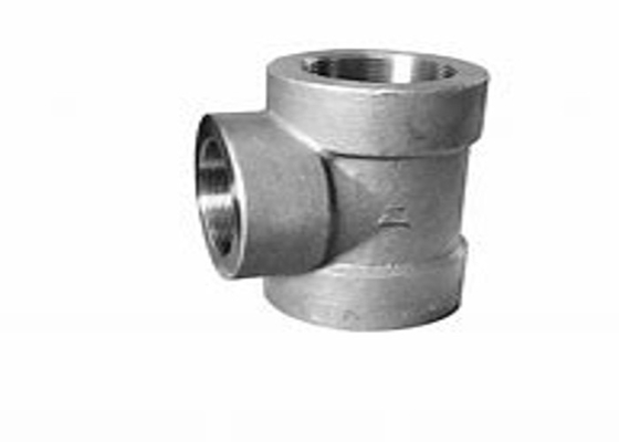 Duplex Steel Forged Pipe Fittings Equal Tee ASTM A815 UNS S31803 ANSI B16.9