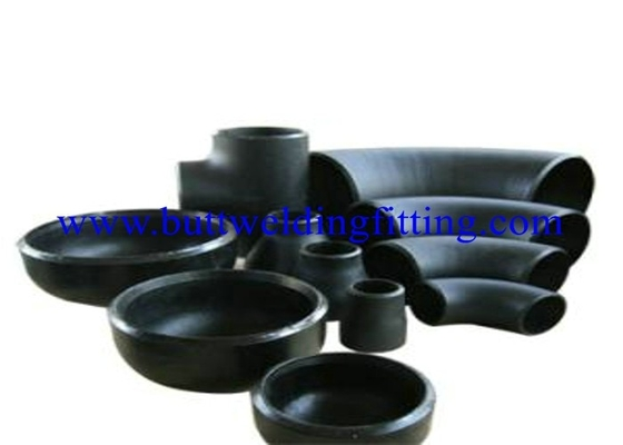 Black Welded Pipe Fittings Stainless Steel Pipe End Caps ASTM A234 WP22 / WP9 / WP91