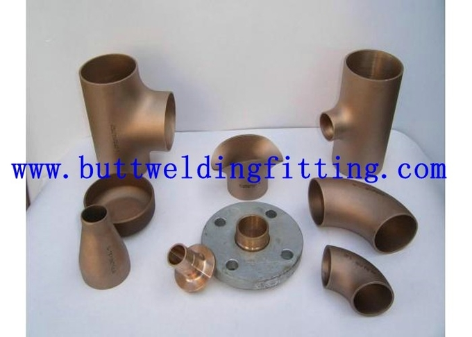 Copper Nickel 90/10 Pipe Fittings 45 / 90 Degree Bend