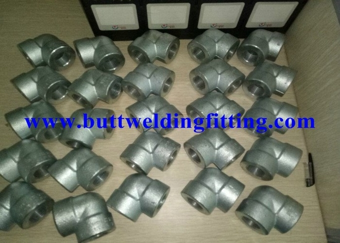 ASTM A105 Galvanized Forged Steel Pipe Fittings 90 Degree 0.75 Inch Elbow